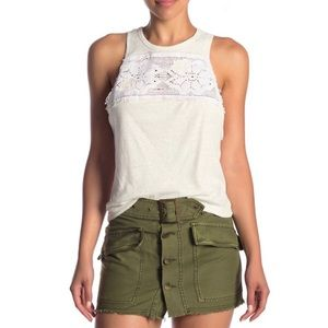 NWT Free People Ivory Window Tank Top Size Large